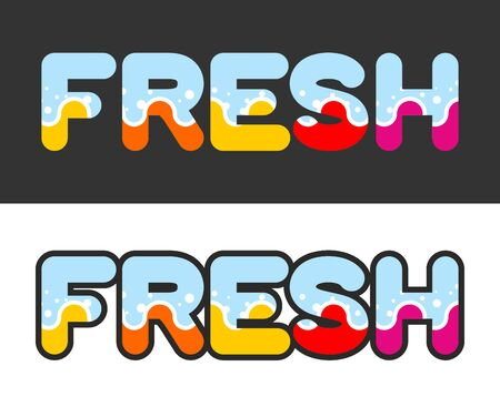 spa collage: Fresh. Letters for icon and emblem. Vector illustration Illustration