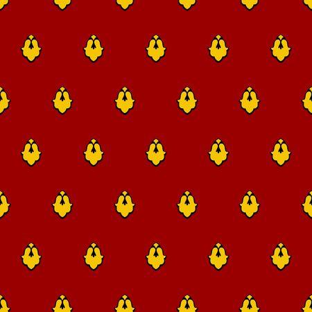 mantle: Royal seamless pattern for mantle. Vector illustration for King Illustration