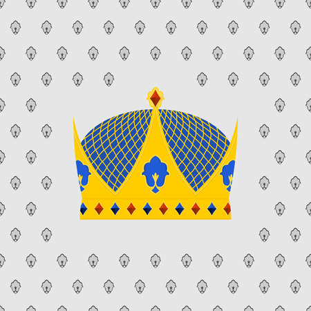 precious stones: Royal Crown of gold with precious stones. Vector illustration Illustration