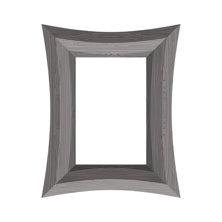 plated: Vintage Wooden picture frame