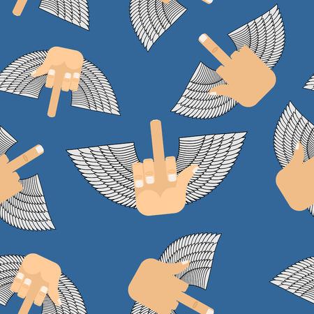Winged Fuck seamless pattern Иллюстрация