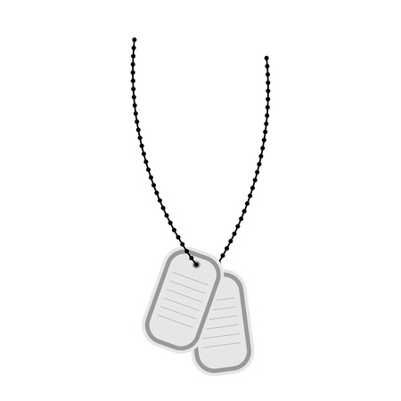 dogtag: Army soldiers badge Illustration