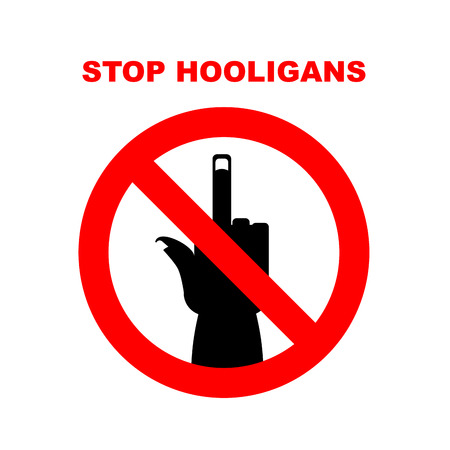 bullies: Sign Stop bullies, hooligans