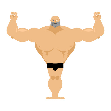 male bodybuilder: Big strong male athletics. Bodybuilder with huge muscles on a white background