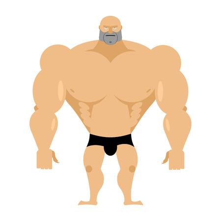 shirtless: Bodybuilder on a white background