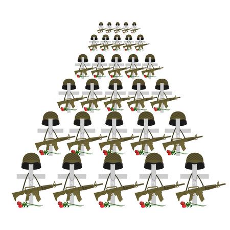 fallen: Soldiers graves Illustration