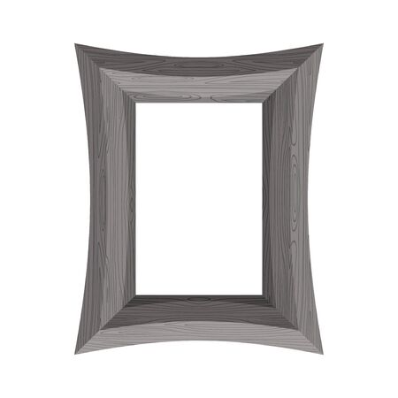 black wood texture: Vintage Wooden picture frame. illustration of black wood texture.