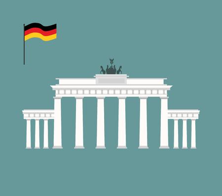 Brandenburger Tor in Berlijn. mijlpaal van Duitsland. Aantrekkelijkheid architectuur van het land. Vector illustratie
