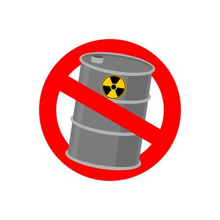 toxic waste: Prohibiting signs Biohazard. Crossed barrel of toxic waste. Vector illustration Illustration