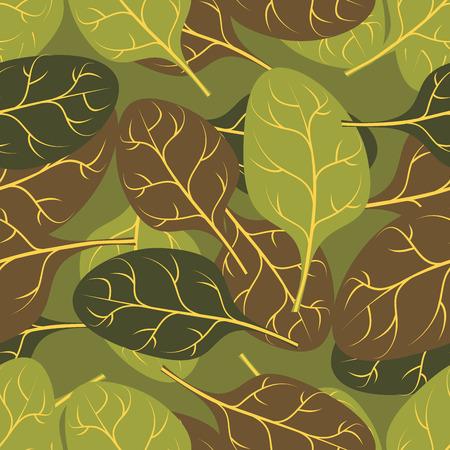 spinat: Milit�rische Textur von Bl�ttern Spinat. Tarnung Armee nahtlose Muster von Gr�npflanzen.