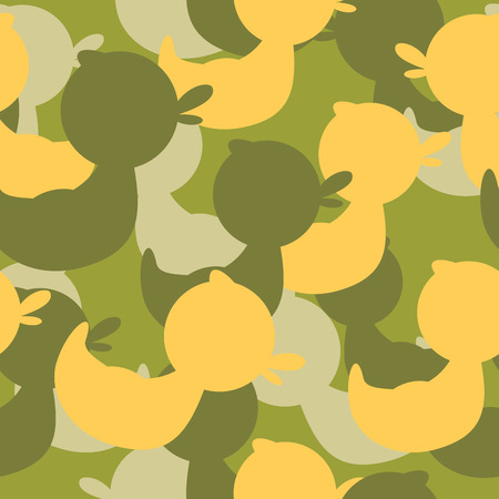 camoflage: Military camouflage rubber ducks. Military Vector texture. Soldier protective seamless pattern