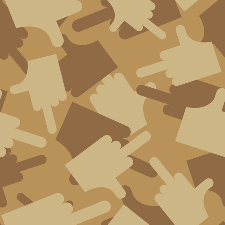 obscene gesture: Military texture of  fuck. Camouflage army seamless pattern of fuck. Desert seamless background for  soldiers. Illustration