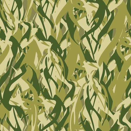 camouflage: Military texture in form of fire. Camouflage army seamless flames. Illustration