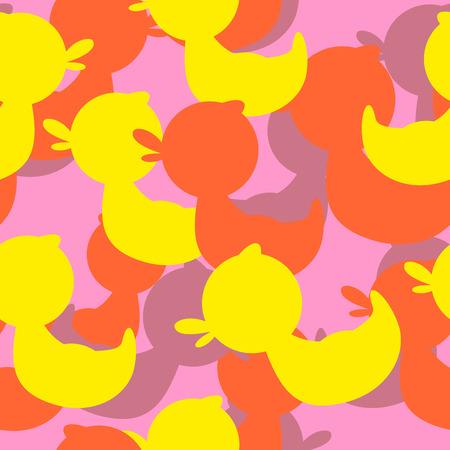 rubber ducks: Military texture rubber ducks. Vector background camouflage