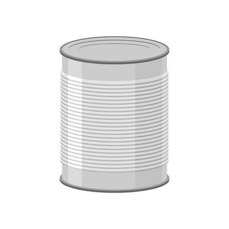 白い背景の缶詰用缶。錫のベクトル図