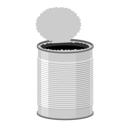 tincan: Open a tin can. Tin on a white background. Vector illustration