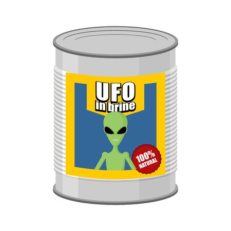 tin can: Canned UFO. Tin can alien. Vector illustration Illustration