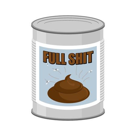 shit: Full shit. Canned turd. Vector illustration Illustration