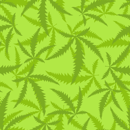 narcotic: Marijuana is a seamless pattern. Background of narcotic plant. Illustration