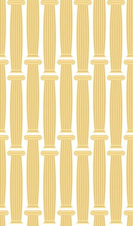 hellenistic: Greek Column background. Vector seamless architectural pattern