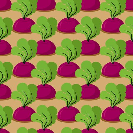 plantation: Beet seamless pattern. Plantation beets with haulm vector background. Garden with vegetables. Retro ornament baby fabrics