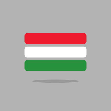 magyar: Hungary flag. Stylized Hungarian flag from geometry. Vector illustration
