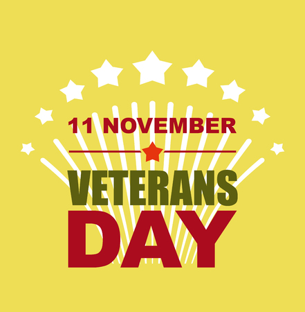national holiday: Veterans Day November 11. Salute to American heroes. Vector illustration of patriotic national holiday United States Illustration