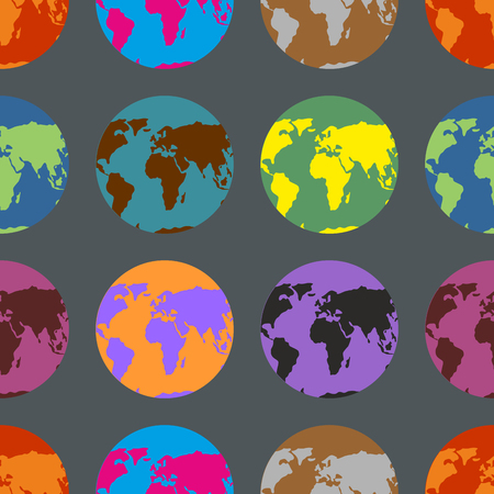 the continents: Earth coloured crazy pattern. Multi-Colored Continents. Background of atlases.