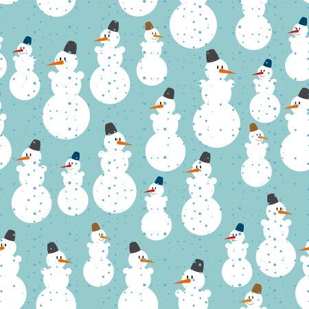 bonhomme de neige: Snowman pattern. Christmas background. Ornement de bonhommes de neige pour célébrer la nouvelle année.