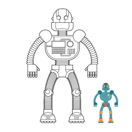 Espacio Invasor Soldado Cyborg Android De Futuro. Robot De Hierro ...
