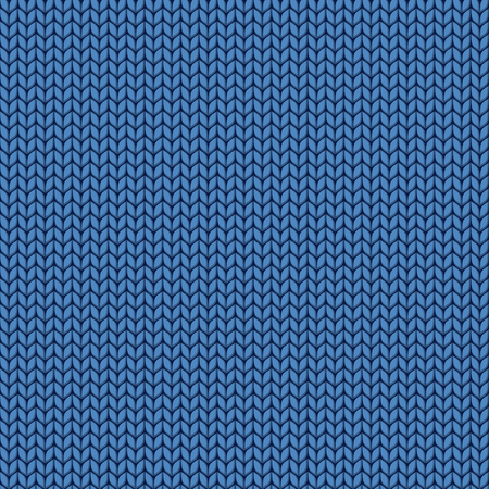 wool texture: Knitted blue texture. Knit from wool seamless pattern. Stitches of thread. Illustration
