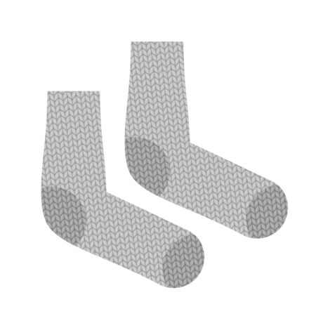 woollen: Knitted socks. Woollen clothing for cold weather. Vintage clothing accessories Illustration
