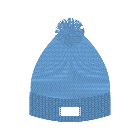 cold weather: Knitted blue hat. Winter cap. Wool accessory for cold weather.