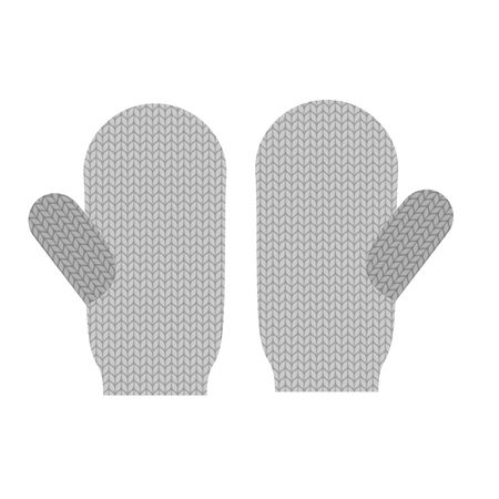 mittens: Knitted warm mittens. Wool Winter clothing accessories. Mittens for cold weather.