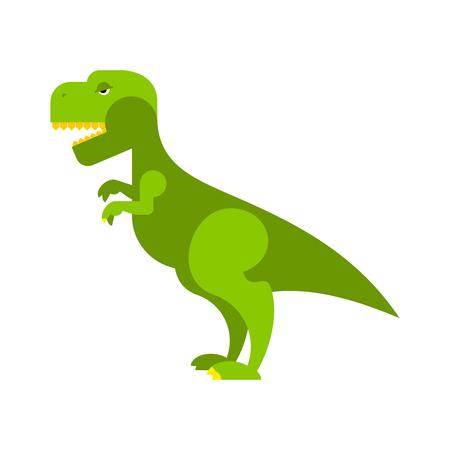 toothy: Dinosaur Tyrannosaurus. Angry ancient Predator. Big Reptile Jurassic period. Prehistoric green evil animal. Toothy scary t-rex dinosaur. Illustration