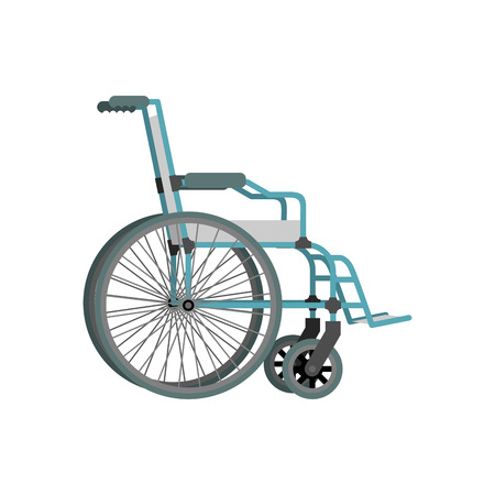 physical impairment: Wheelchair on white background.  Means of transportation for people who could not move.