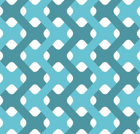 plexus: Plexus tapes seamless pattern. Abstract background of weavings. Retro fabric ornament.
