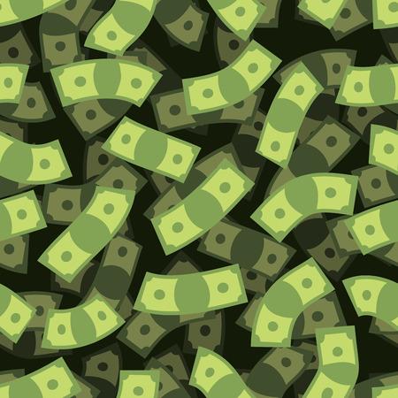 argent: Argent seamless pattern. Argent comptant fond. L'argent pluie. Voler dollars. texture 3D d'argent. Répétition financière ornement.