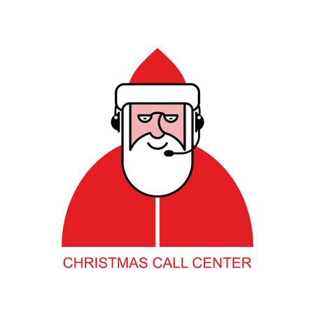 responds: Santa Claus call Center. Santa responds to phone calls. Customer service from back support. Christmas call center.