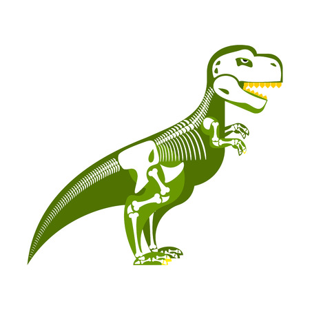 trex: Dinosaur skeleton. Bone up on my body. T-Rex and skull. Tyrannosaurus prehistoric monster predator Raptor