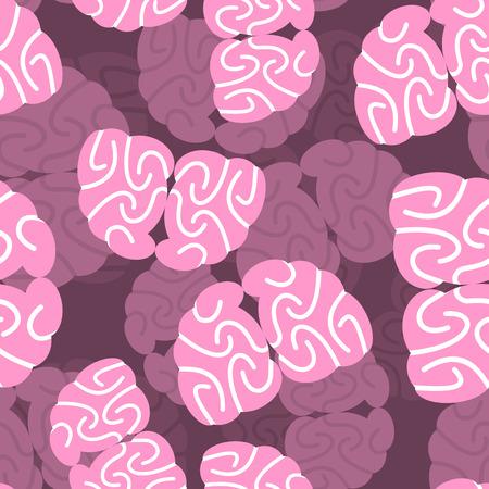 tester: Brain 3d background. Human Brain seamless pattern. Frisky brain tester. Human brains is repeating ornament.