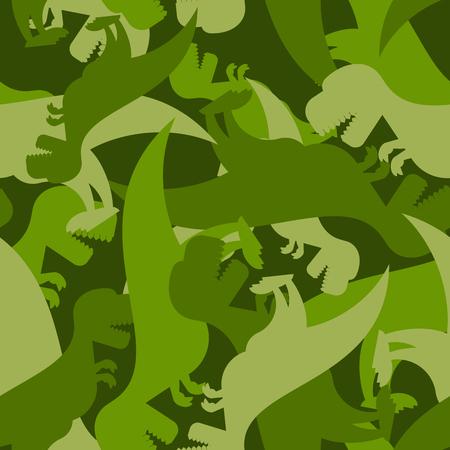 Militaire patroon dinosaurus. textuur van Tyrannosaurus leger. Camo achtergrond van t-Rex. Soldaat ornament van prehistorische Raptor.