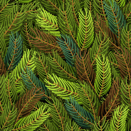 protective clothing: Seamless spruce pattern. Military background. Army structure from spruce branches. Protective clothing ornament soldiers from trees. Many Fir branches.