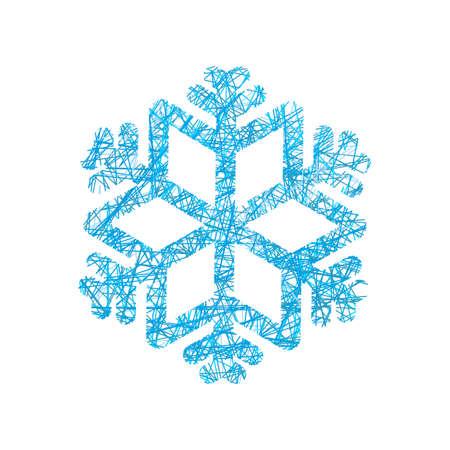 gossamer: Snowflake of network. Snow line. Winter exhibit.