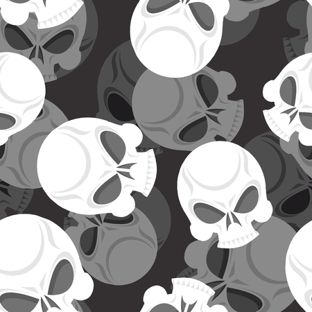 isolation backdrop: Skull seamless pattern. Head Sklet 3d background. Death of ornament.