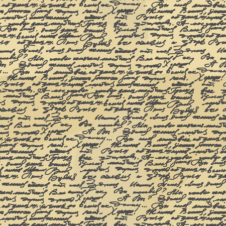 handwriting: Handwriting seamless pattern. Old Abstract letter. Ancient writings. Calligraphy texture to fabric. Retro handwriting unassigned text ornament.