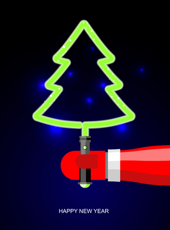 light green christmas tree lightsaber in form of tree holiday accessories from future