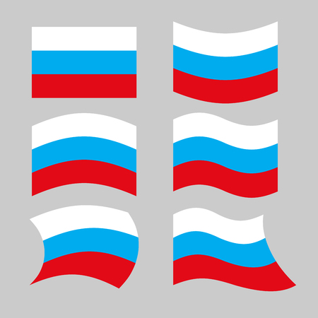 russian  russia: Flag Russia. Set of flags of Russian Federation in various forms. Developing Russian flag Government.