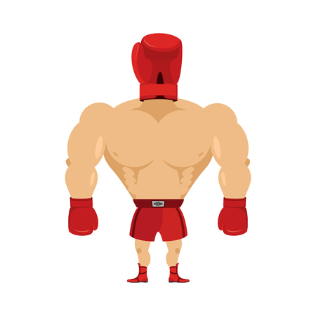 strongman: Crazy Boxer. Boxing Glove on his head. Glove man. Ridiculous athlete. Nutty strongman.