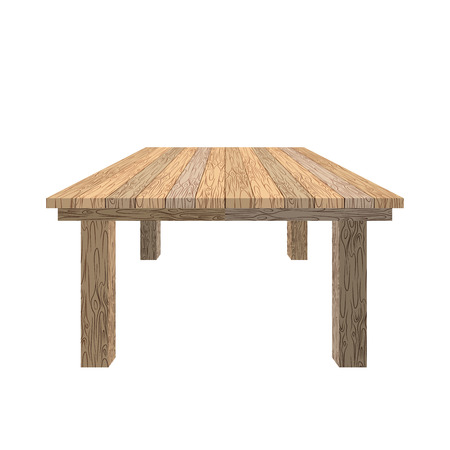tabletop: Wooden table. Tabletop wood texture. Old desk on white background. Piece of furniture from wood of Linden.